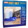 Lixit  Pet Set - Water Fountain and Dry Food Feeder