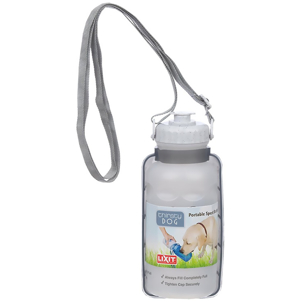 Lixit Thirsty Dog Portable Water Bottle / Bowl - 20 oz