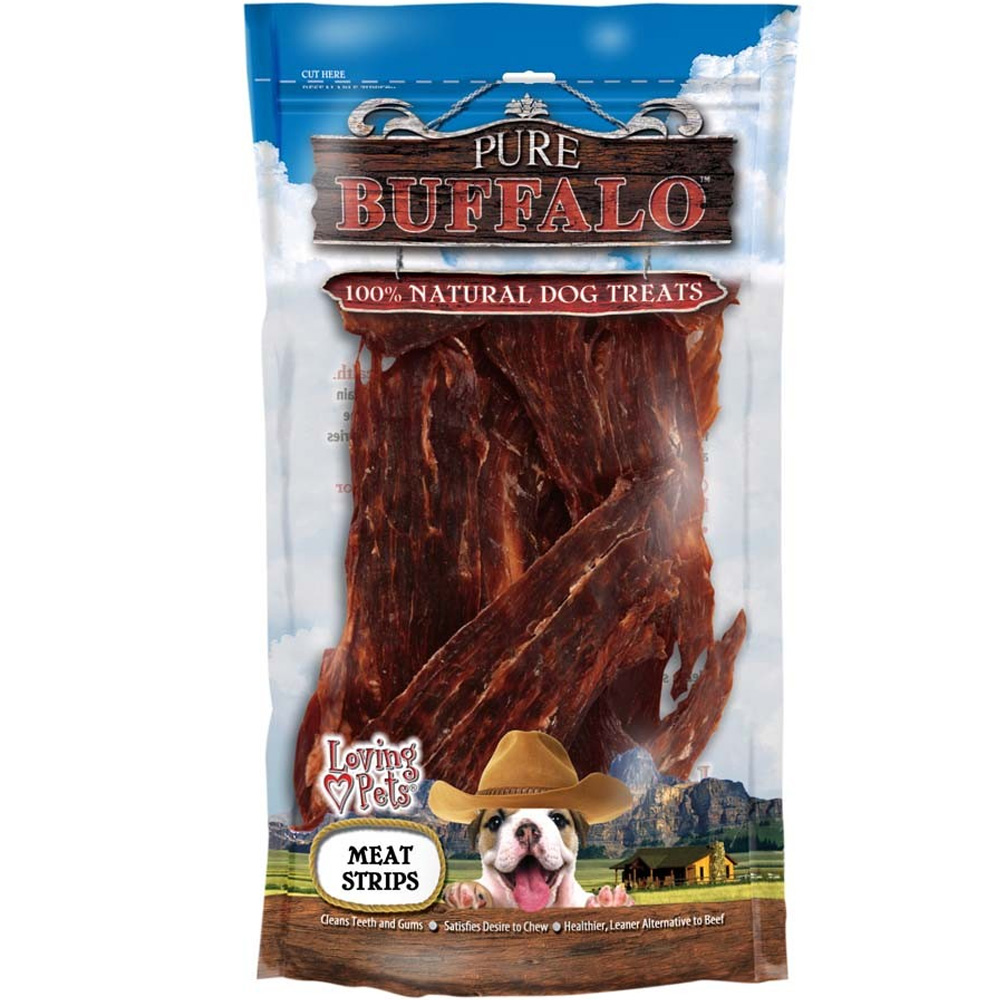 Loving Pets Pure Buffalo Meat Jerky Strips (3.5 oz)