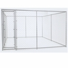 """Lucky Dog™ 2 in 1 CL Galvanized Chain Link Box Kennel - 6'H x 5'W x 15'L or 6'H x 10'W x 10""""L"""