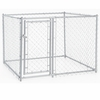 Lucky Dog™ Galvanized Chain Link Box Kennel - 4'H x 5'W x 5'L