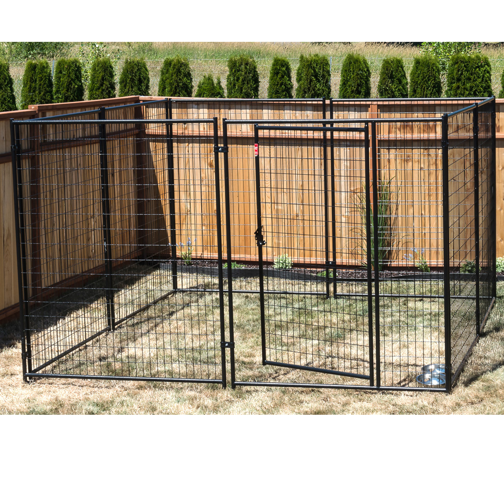 lucky dog modular kennel welded wire kit   6 h x 10 w x