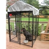 Lucky Dog™ Uptown Welded Wire Kennel w/Cover - 6'H x 4'W x 4'L
