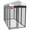 Lucky Dog™ Uptown Welded Wire Kennel w/Cover - 6'H x 4'W x 8'L