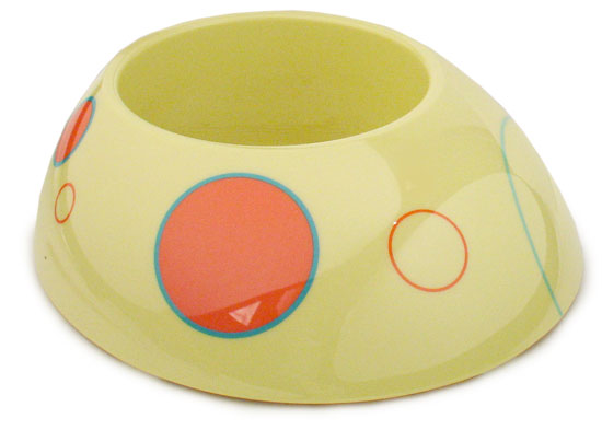 Lucy Pet Bowls - Luscious Lemon (LARGE - 5 CUPS)