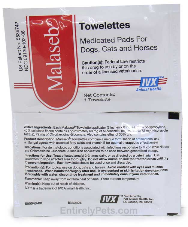 Malaseb Towelettes 6x6 - Individually Wrapped Medicated Pads