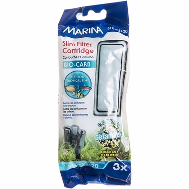Marina Slim Filter Carbon Plus Ceramic Cartridge (3 Pack)