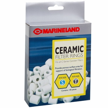 Marineland Ceramic Filter Rings Rite-Size S & T (140 rings)