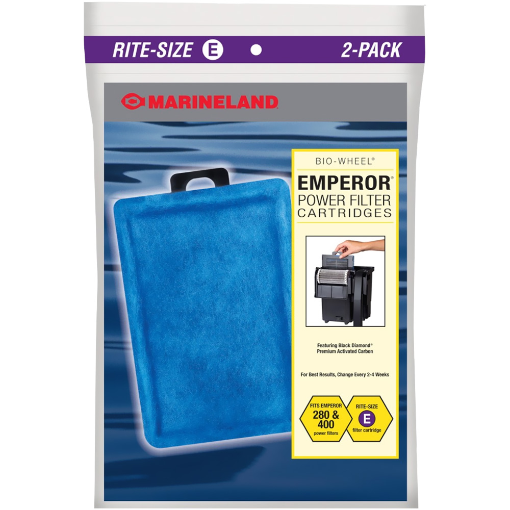 Marineland Emperor Power Filter Cartridges Rite-Size E (2 pk)