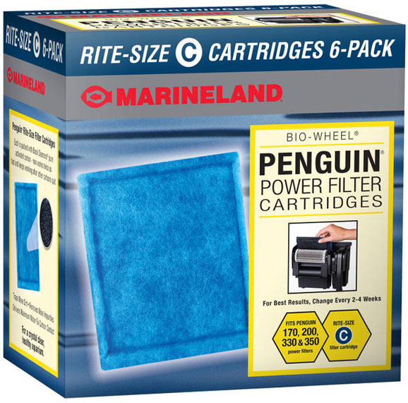 Marineland Penguin Power Filter Cartridges Rite-Size C (6 pk)
