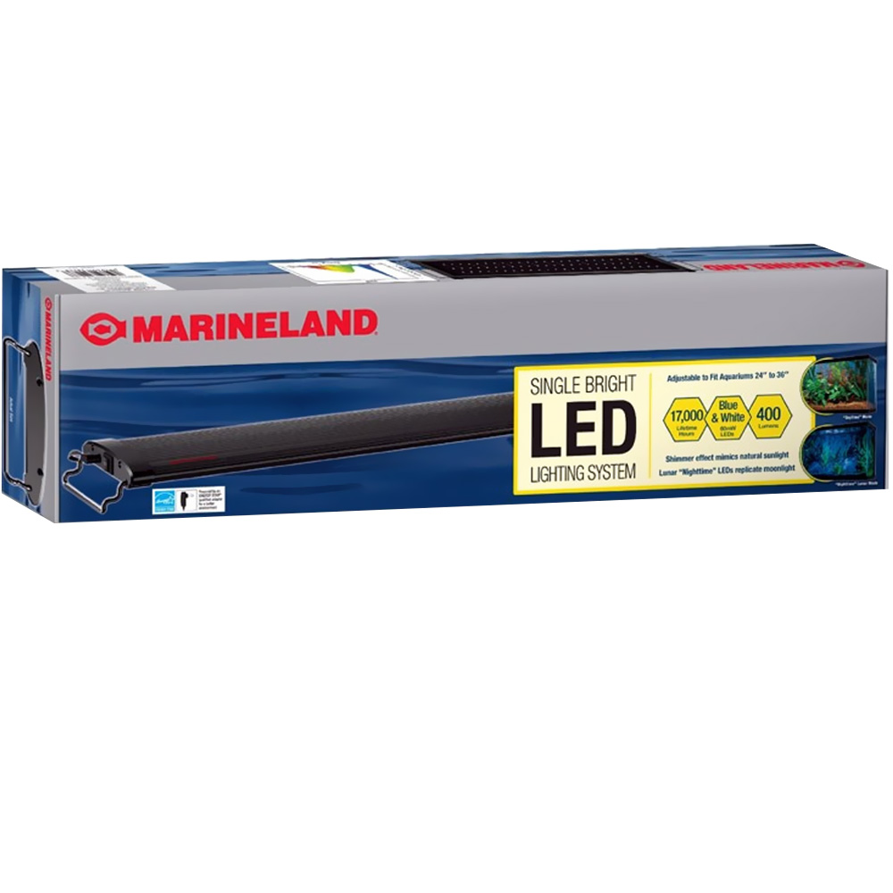"Marineland Single Bright LED Lighting System (24""-36"")"