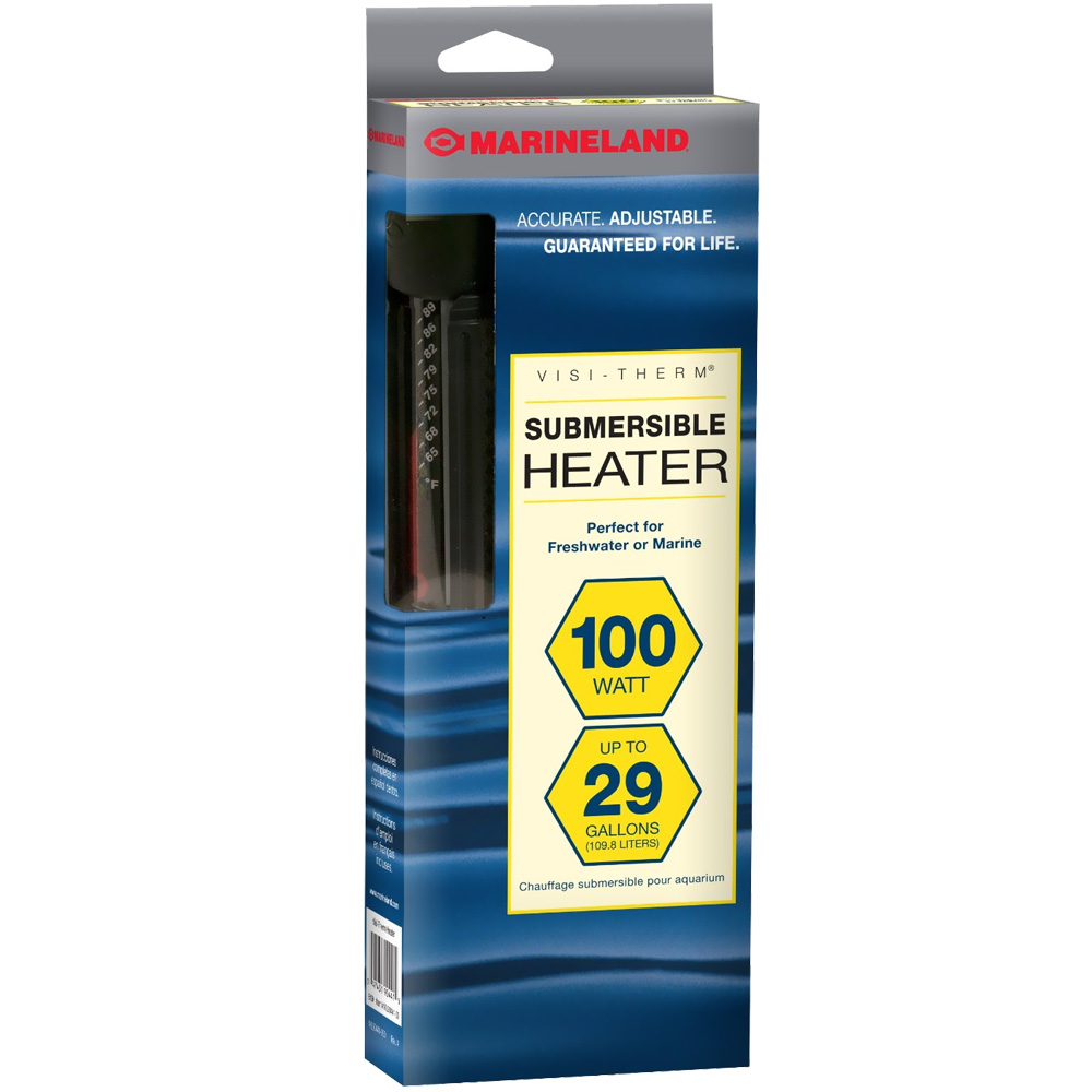 Marineland Visi-Therm Submersible Heater (100 Watt upto 29 gal)