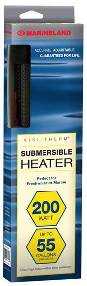 Marineland Visi-Therm Submersible Heater (200 Watt upto 55 gal)
