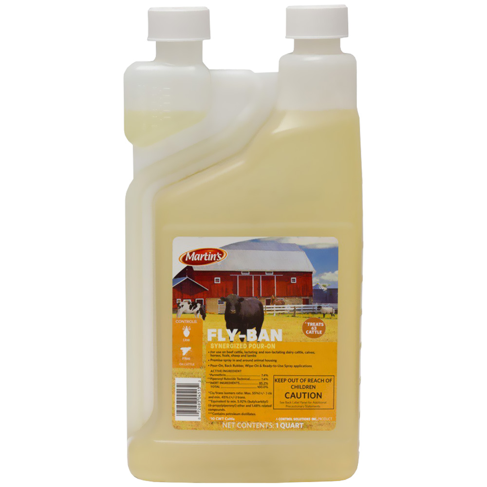 Martin's Fly Ban Synergized Pour On (1 Quart)