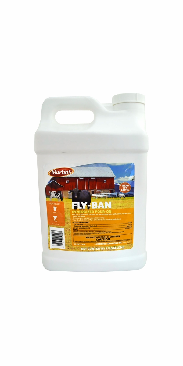 Martin's Fly Ban Synergized Pour On (2.5 Gallon)