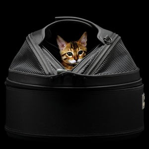 Meowme SleepyPod Mobile Pet Bed - Jet Black with Warmer 6.5W US (Medium)