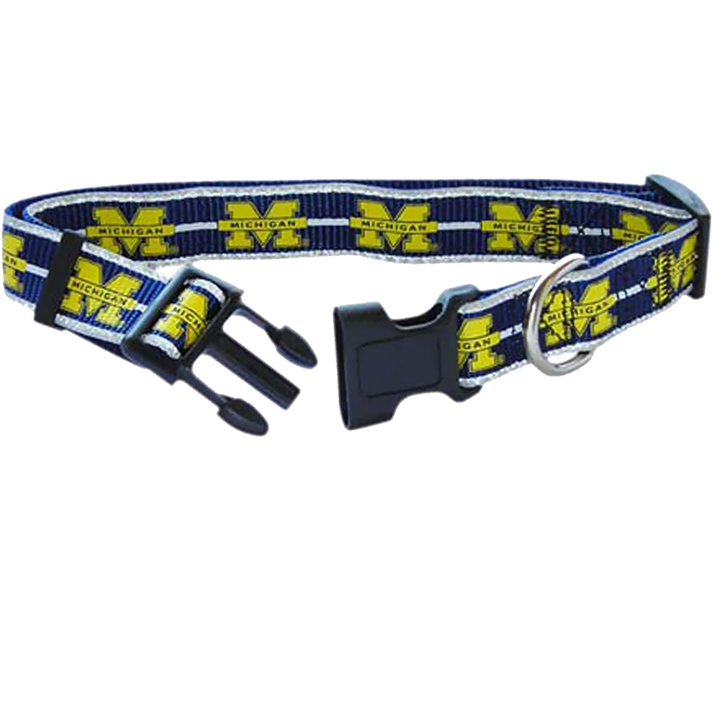 Michigan Wolverines Dog Collars & Leashes