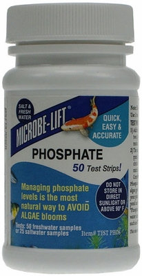 Microbe-Lift Phosphate Test Salt & Fresh Water (50 test strips)