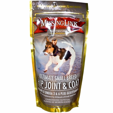 Missing Link Ultimate Small Breed Hip, Joint & Coat for Dogs (8 oz)
