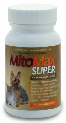 MitoMax SUPER Probiotics for Cats and Dogs SMALL (90 Caps)