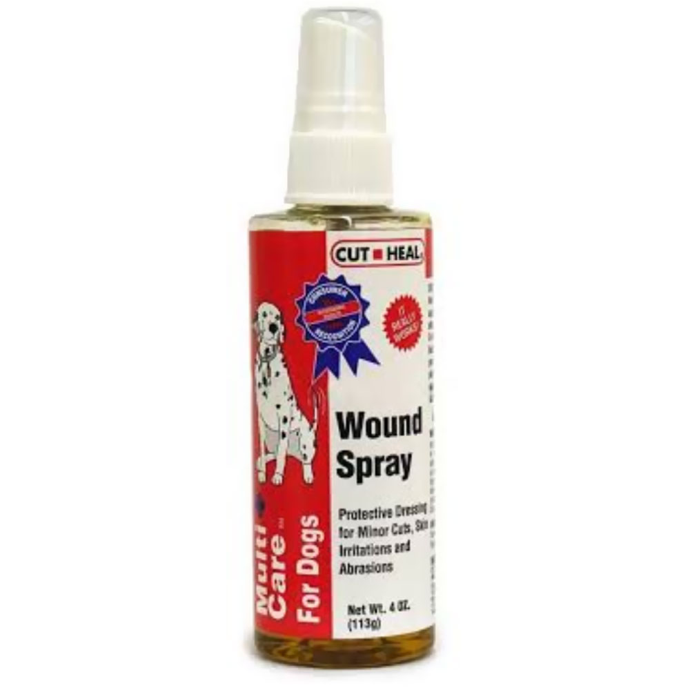 Multicare for Dogs Wound Spray by Cut Heal - 4 oz.