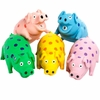 "Multipet 9"" Latex Polka Dot Globlet Pig Dog Toy (Assorted Colors)"
