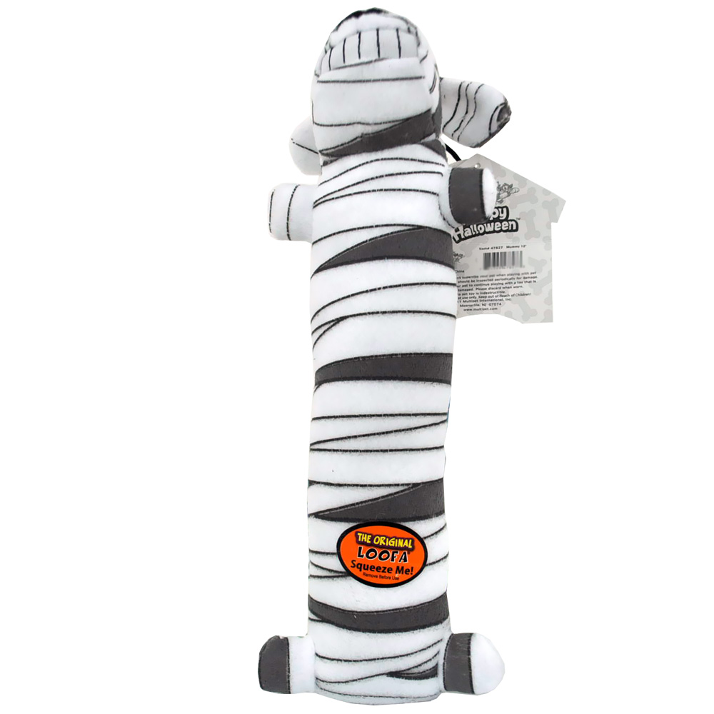 "Multipet Halloween Medium Loofa 12"" - Mummy"