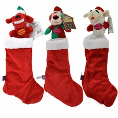 "Multipet Holiday Dog Toy Stockings 18"" - Assorted"