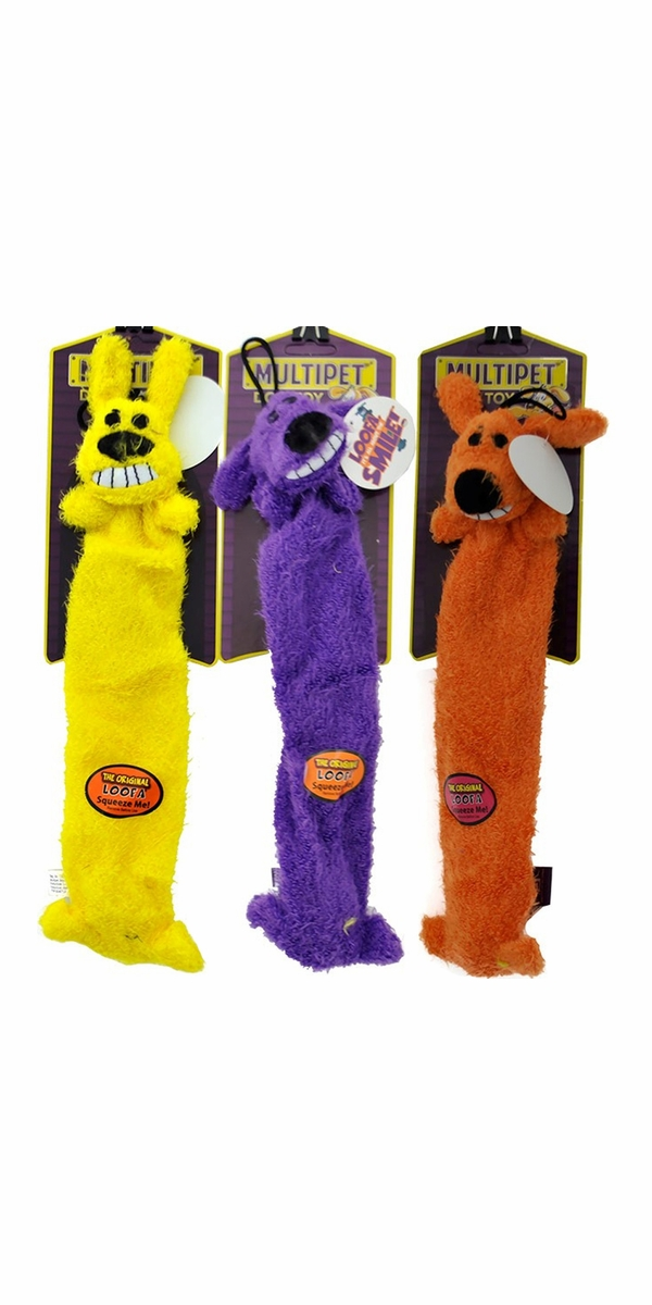 Multipet Lightweight Loofa Dog Toy (3 pack) - 12""