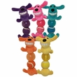 Multipet Loofa Caterpillar Dog Toy (Assorted Colors)