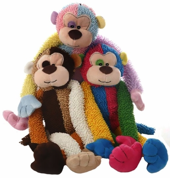 Multipet Multicrew Christmas Plush Monkey 17""