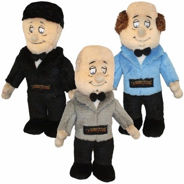 Multipet Plush Talking Three Stooges Dog Toys (3 pack)