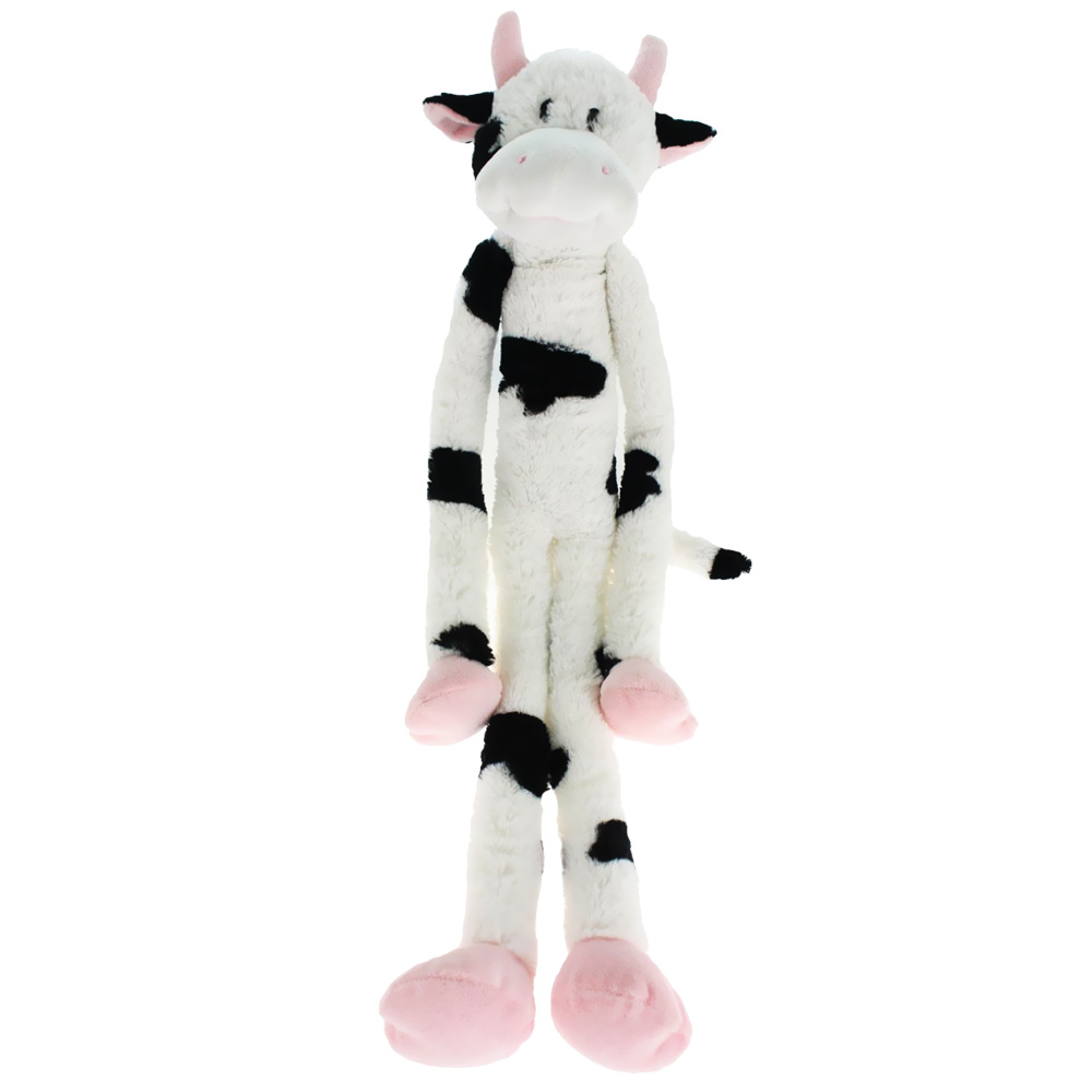 "Multipet Swingin Slevins Plush Dog Toy 30"" - Cow"