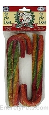 Munchy Rawhide Candy Canes 4-PACK (8 in)