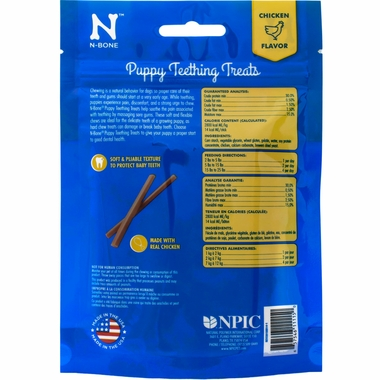 N-Bone Puppy Teething Treats Chicken Flavor (3.74 oz)