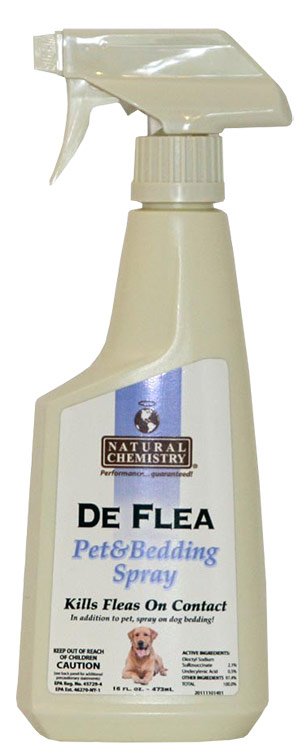 Natural Chemistry De Flea Pet & Bedding Spray for Dogs (16 oz)