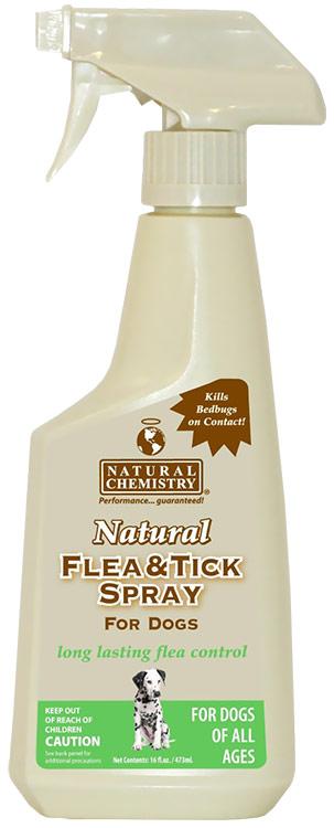 Natural Chemistry Natural Flea & Tick Spray for Dogs (16 oz)