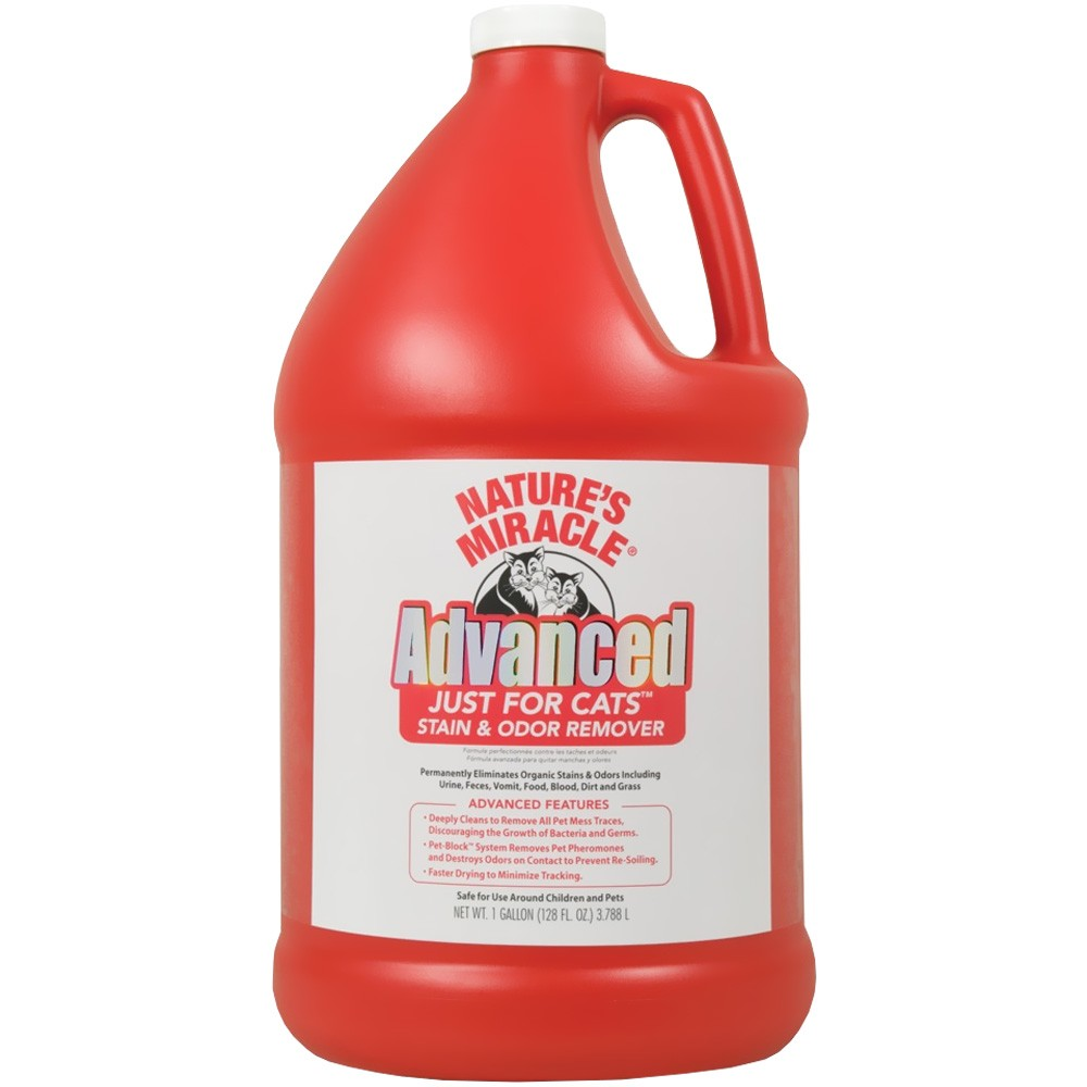 Nature's Miracle Advance Just For Cats Stain & Odor Remover (Gallon)