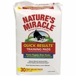 "Nature's Miracle Quick Results Training Pads 22"" x 23"" (30 pads)"