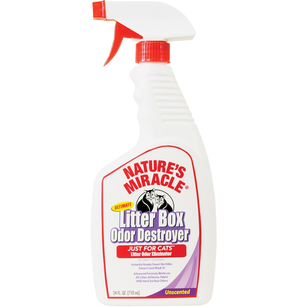 Nature's Miracle Ultimate Litter Box Odor Destroyer Spray for Cats (24 oz)