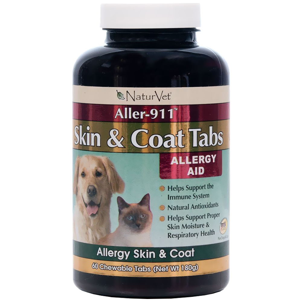 NaturVet Aller-911 Skin & Coat (60 chewable tablets)