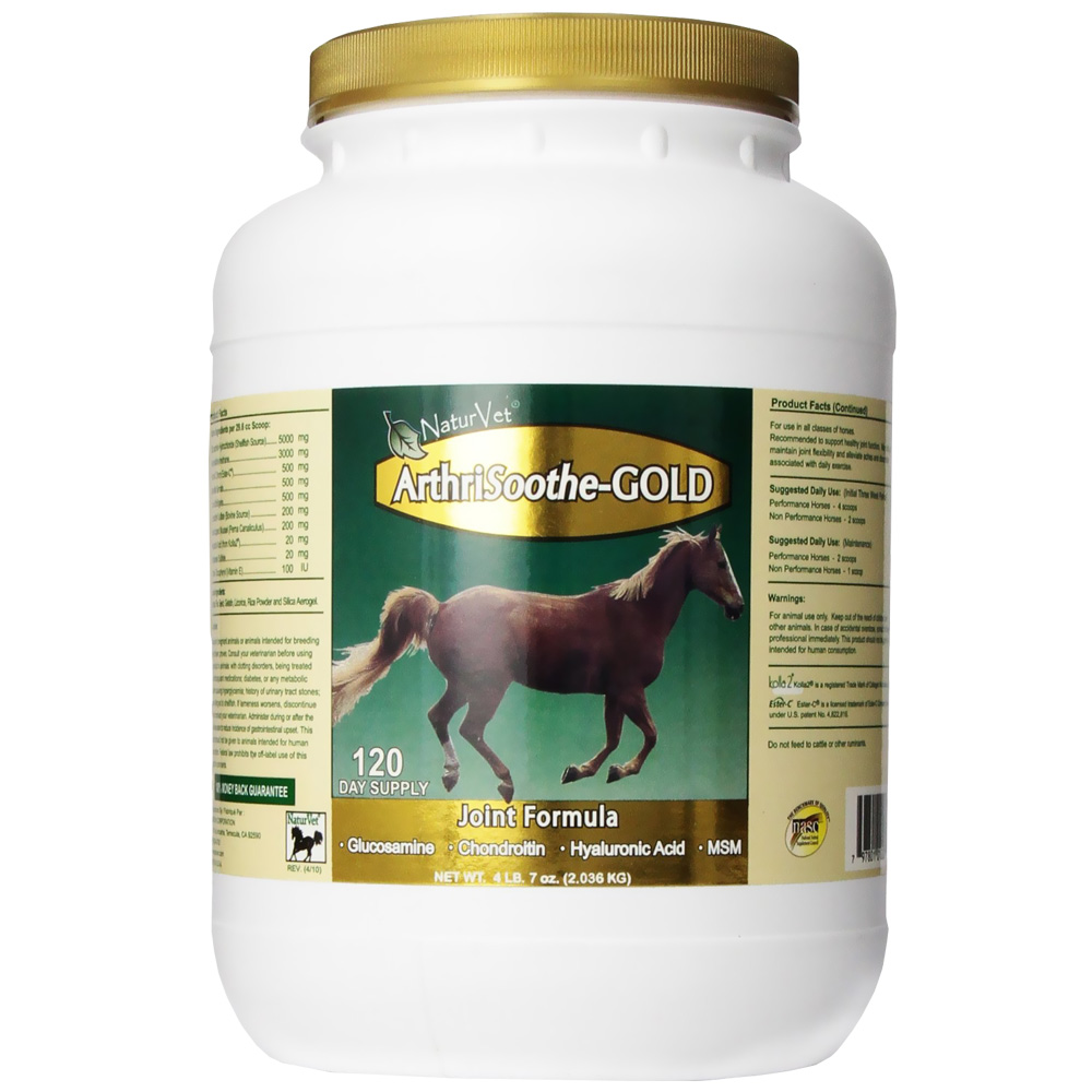 NaturVet ArthriSoothe-GOLD Horse Joint Formula Powder - 120 Day Supply (71 oz)