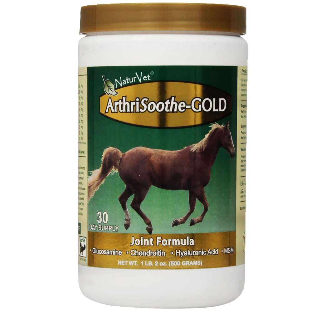 NaturVet ArthriSoothe-GOLD Horse Joint Formula Powder - 30 Day Supply (18 oz)