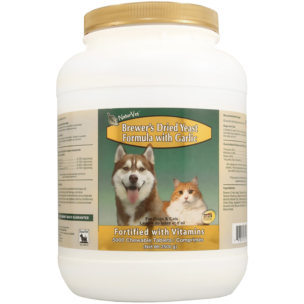NaturVet Brewer's Dried Yeast Formula with Garlic (5,000 Tabs)