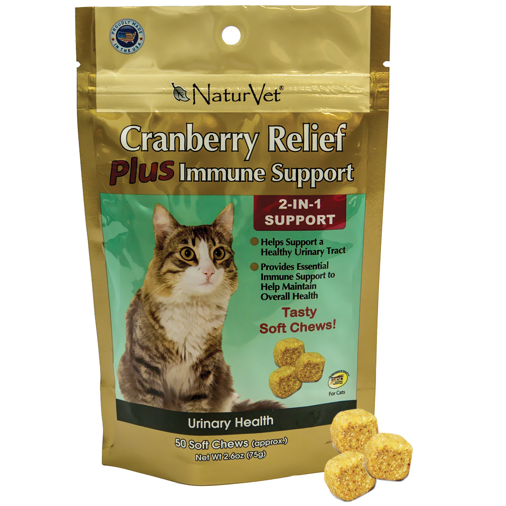 NaturVet Cranberry Relief Plus Immune Support (50 soft chews)