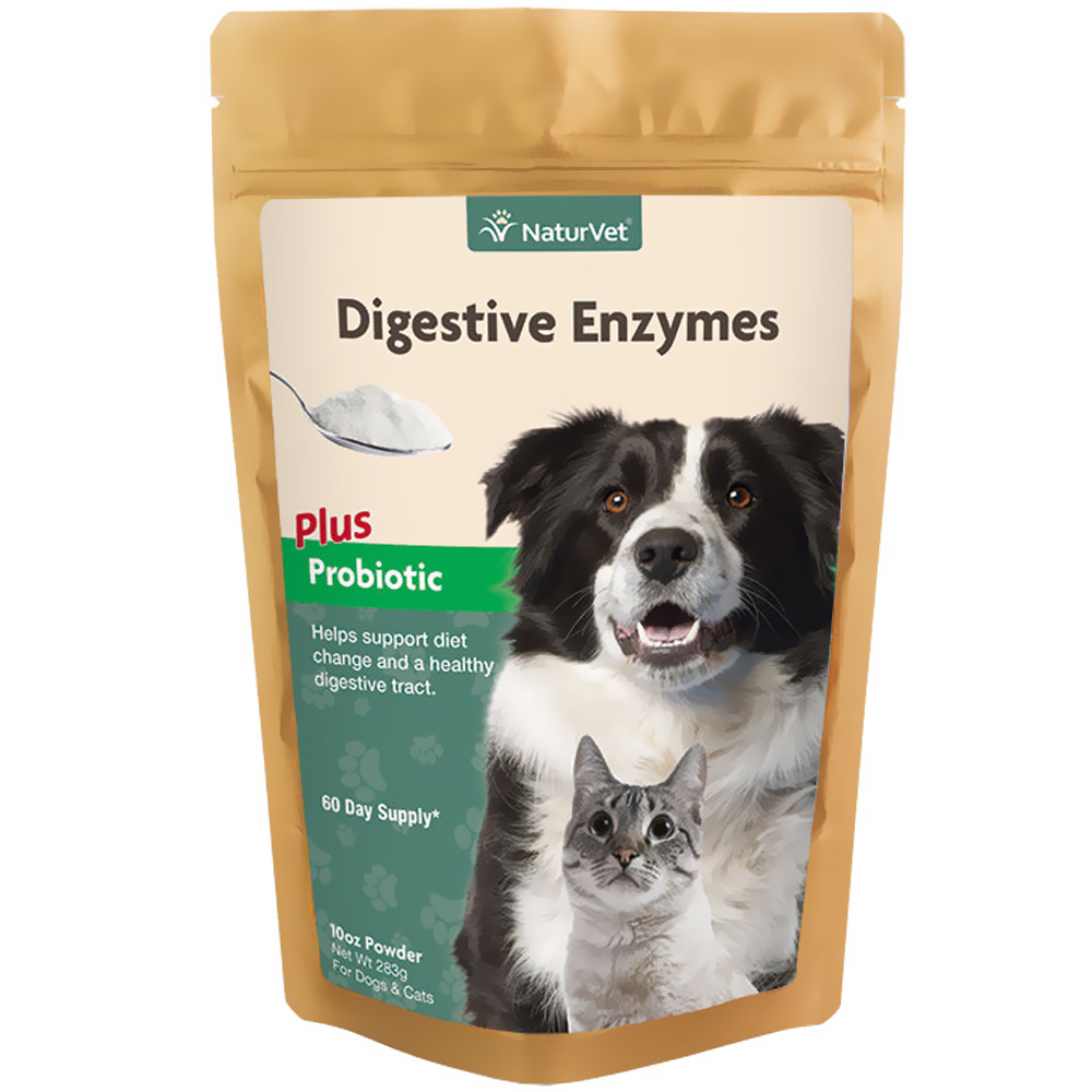 NaturVet Digestive Enzyme Powder 60 Day Supply (10 oz)