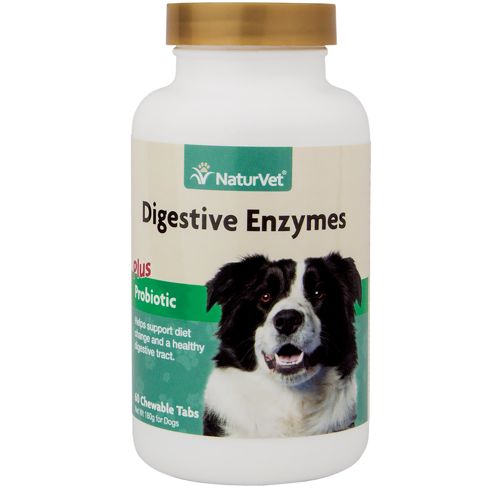 NaturVet Digestive Enzymes (60 chewable tablets)