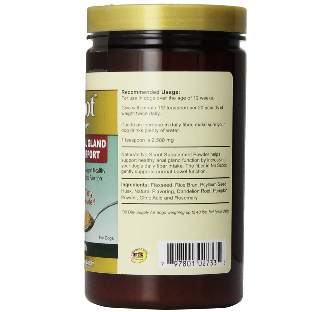 Naturvet No Scoot Supplement Powder (155 gm)