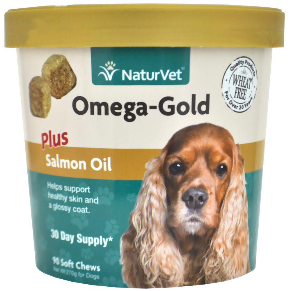 NaturVet Omega-Gold Plus Salmon Oil (90 Soft Chews)