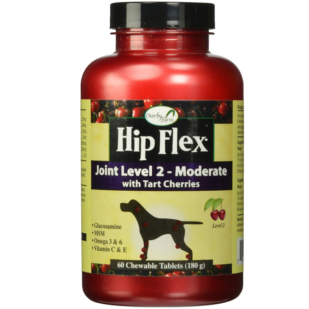 NaturVet Overby Farm Hip Flex Joint Level 2 - Moderate (60 tablets)
